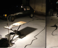 04 Mapa Provisório, installation CENTA - Black Ink, Electrical cables,whitewash, Car, sound 2008