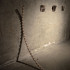 'impermanência', madeira, 140cm x 140cm x 5cm, 2014 / 'impermanence', wood, 140cm x 140cm x 5cm, 2014